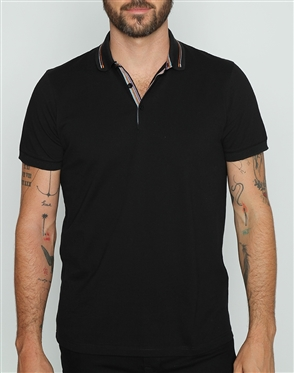 Designer Casual Black Polo