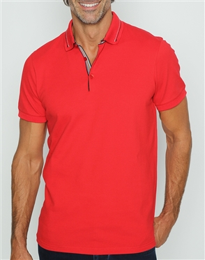 Designer Casual Red Polo