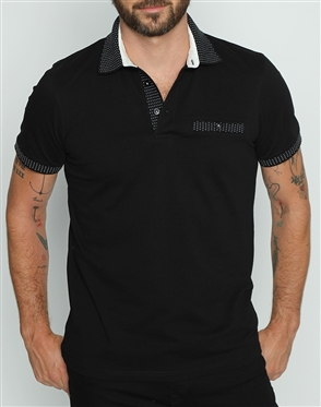 Luxury Black Short Sleeve Polo