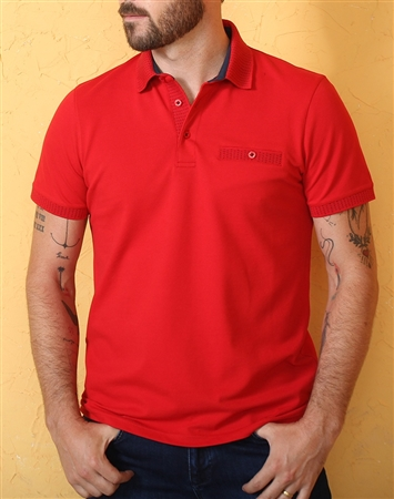Luxury Red Short Sleeve Polo