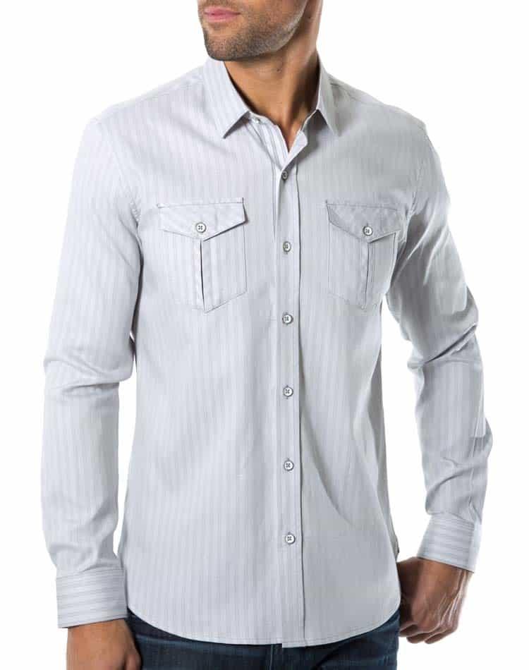 7 diamonds SMK 4145 2 men's double pocket shirt 7 diamonds stronger long sleeve,7 Diamonds Womens Clothing