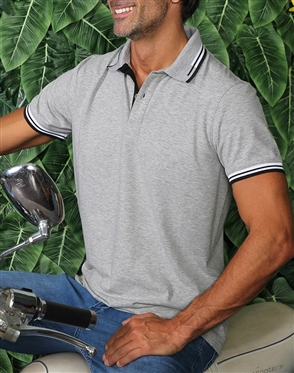 Fashionable Gray Polo Shirt