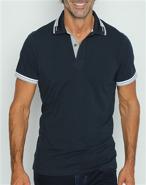Fashionable Navy Polo Shirt