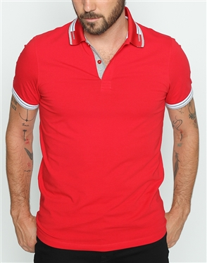Fashionable Red Polo Shirt