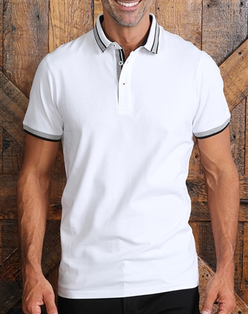 Trendy Slim Fit White Polo
