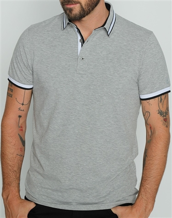 Trendy Slim Fit Gray Polo