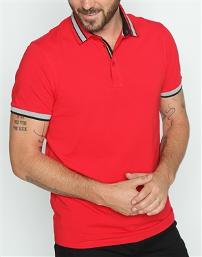 Trendy Slim Fit Red Polo