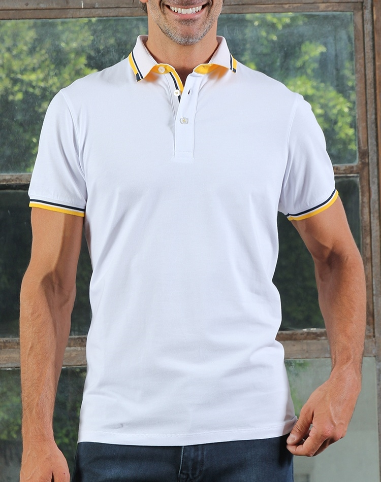 5e2b65e8a3fb Modern White Polo | 2018 Fashion Polo Shirt | Austere by Eight-X
