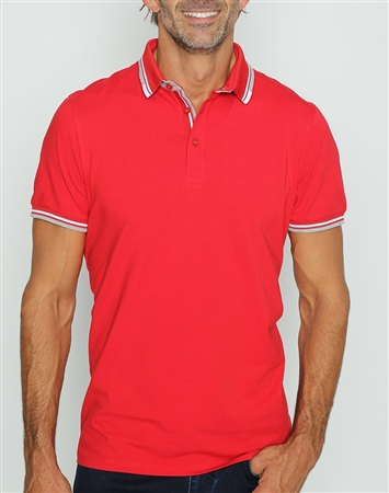 Modern Red Polo