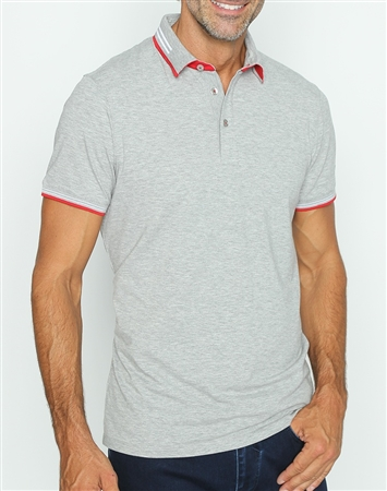 Sporty Classic Gray Polo Shirt