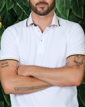 Sporty Classic White Polo Shirt