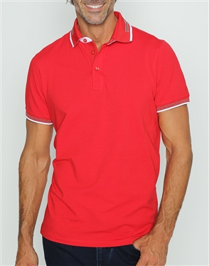 Sporty Classic Red Polo Shirt