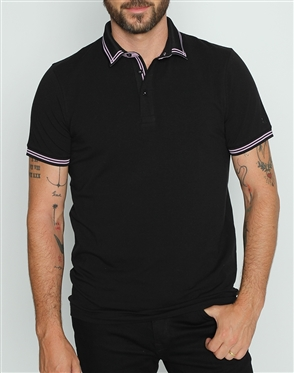 Fashion Fit Polo Shirt Black