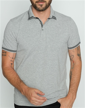 Fashion Fit Polo Shirt Gray
