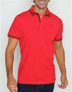 Fashion Fit Polo Shirt Red