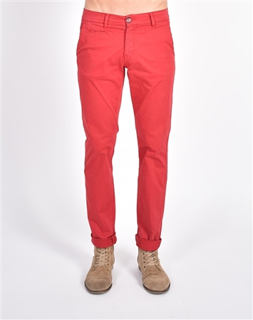 Red Slim Fit Chino Pants|Eight-x Luxury Chino Pants