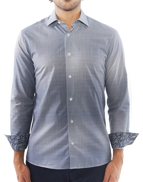 Blue Weave Check Dress Shirt