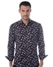 Luxury Dress Shirt - Black Puzzle Print Button Down