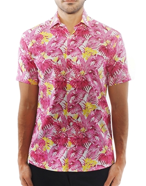 Fuchsia Yellow Floral Shirt