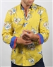 Yellow Floral Luxury Sport Shirt