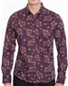 Designer Dress Shirt - Fashionable Plum Colored dress Shirt