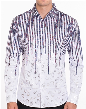 Sophisticated Dress Shirt - Multicolored Designer Dress Shirt