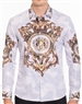 Luxury Gold Royal Print Dress Shirt - Multicolored Designer Dress Shirt