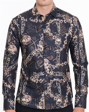 Luxury Sport Shirt - Multicolored Designer Dress Shirt