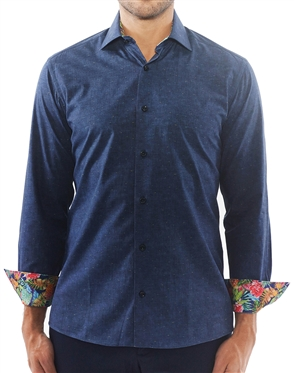 Slim Fit Navy Dress Shirt