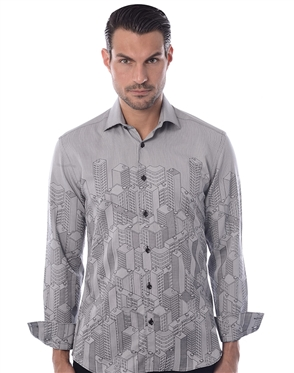 Gray Fashion  Shirt