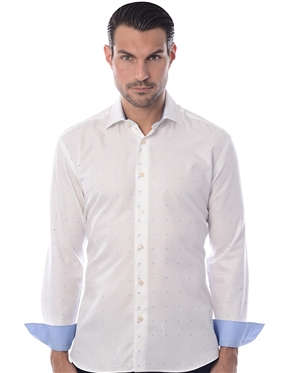 White Blue Fashion Shirt