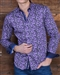 Purple Paisley Floral dress Shirt