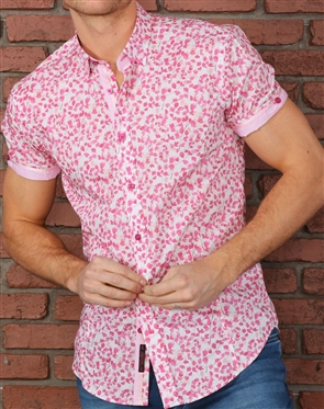 Fuchsia Short Sleeve Dress Shirt