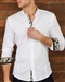 Luxury White Jacquard Dress Shirt