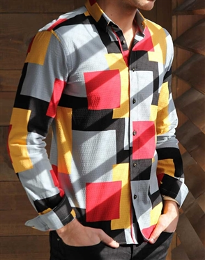 Fashionable Multicolored dress shirt