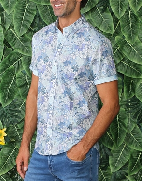 Short Sleeve Floral Button Shirt