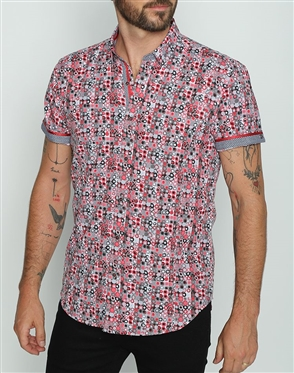 Unique Short Sleeve Woven