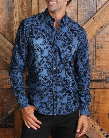 Navy Denim Fashion Shirt