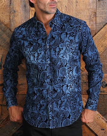 Navy Denim Luxury Shirt