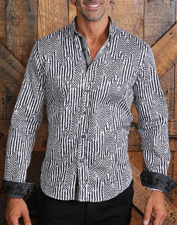 Luxury Black White Stripe Shirt