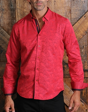 Luxury Red Paisley Woven