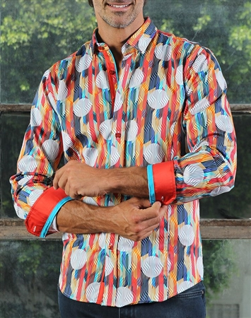 Luxury Multi-colored Print shirt