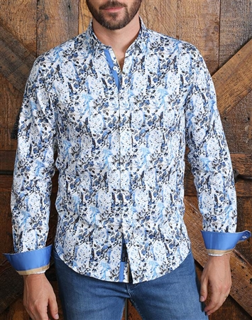 Elegant Floral Dress Shirt