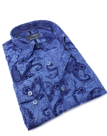 Modern Classic Dress Shirt in Royal Blue