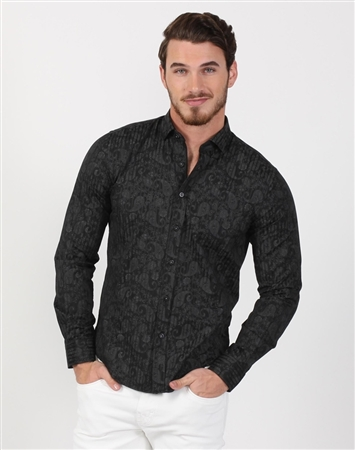 Lively Men's Black Designer Shirt