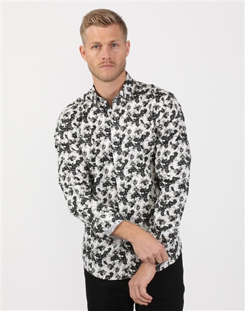 Classic Black And White Mend Designer Shirt