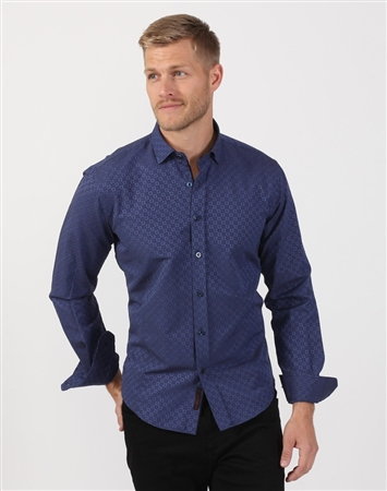Diamond Men's Designer Dress Shirt