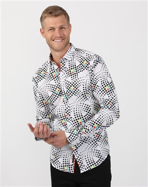 Colorful Dot Print Shirt