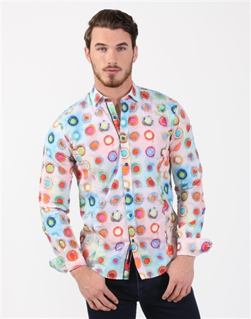 Charming Men's Multi Luxury Dress Shirt