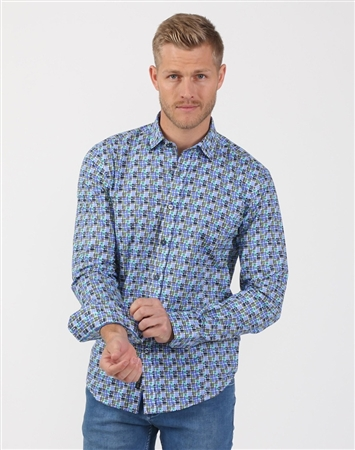 Oceans 11 Multi Men's Designer Shirt